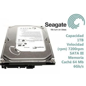 DISCO DURO  SEAGATE 2TB  SATA 64MB 7200RP