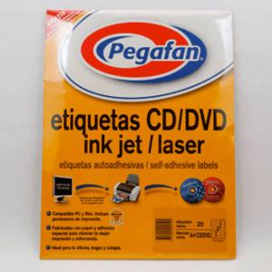 ETIQUETAS CD/DVD 115MM 2H 20U